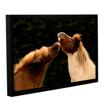 Brushstone Kissme1A Gallery Wrapped Floater-FramedCanvas Wall Art