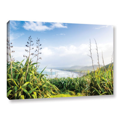 Brushstone Ocean View From Above Gallery Wrapped Canvas Wall Art