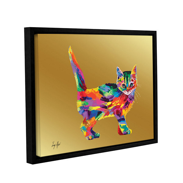 Brushstone Kitty Gallery Wrapped Floater-Framed Canvas Wall Art