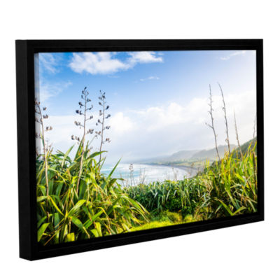 Brushstone Ocean View From Above Gallery Wrapped Floater-Framed Canvas Wall Art