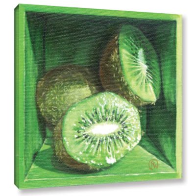 Brushstone Kiwi Gallery Wrapped Canvas Wall Art