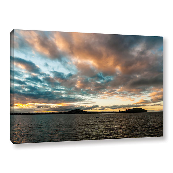 Brushstone Ocean View The City Gallery Wrapped Canvas Wall Art