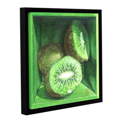 Brushstone Kiwi Gallery Wrapped Floater-Framed Canvas Wall Art