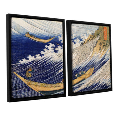 Brushstone Ocean Waves 2-pc. Floater Framed CanvasWall Art
