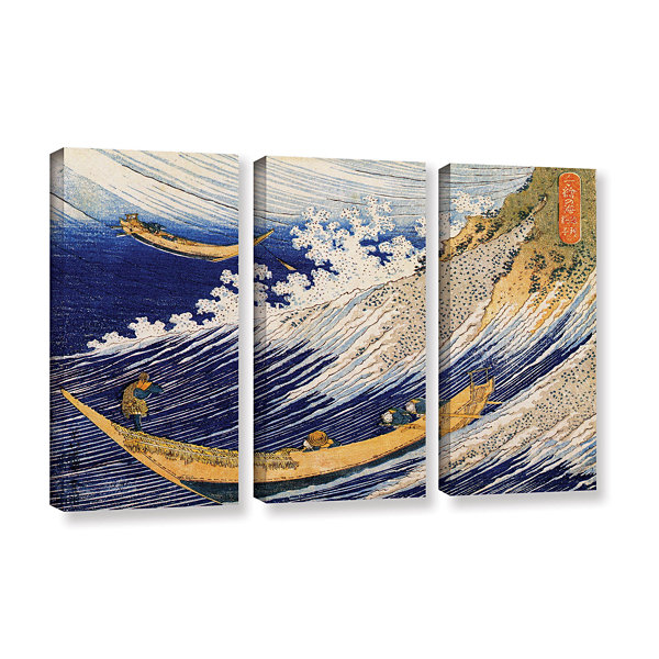Brushstone Ocean Waves 3-pc. Gallery Wrapped Canvas Wall Art