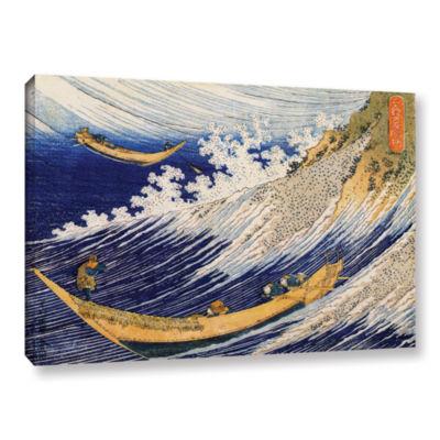 Brushstone Ocean Waves Gallery Wrapped Canvas WallArt
