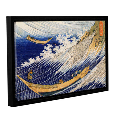 Brushstone Ocean Waves Gallery Wrapped Floater-Framed Canvas Wall Art