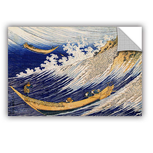 Brushstone Ocean Waves Removable Wall Decal