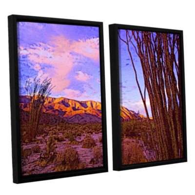 Brushstone Ocotillo Sunset 2-pc. Floater Framed Canvas Wall Art
