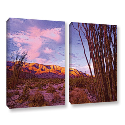 Brushstone Ocotillo Sunset 2-pc. Gallery Wrapped Canvas Wall Art