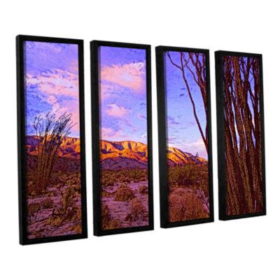 Brushstone Ocotillo Sunset 4-pc. Floater Framed Canvas Wall Art