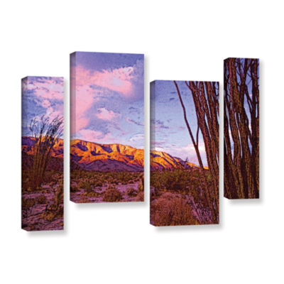 Brushstone Ocotillo Sunset 4-pc. Gallery Wrapped Staggered Canvas Wall Art