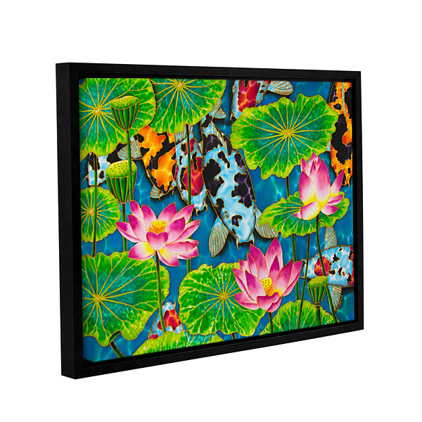 Brushstone Koi & Lotus Gallery Wrapped Floater-Framed Canvas Wall Art