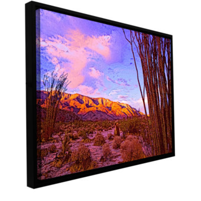 Brushstone Ocotillo Sunset Gallery Wrapped Floater-Framed Canvas Wall Art