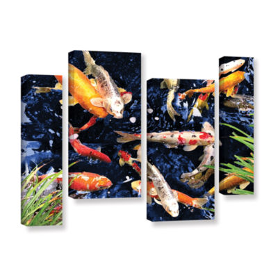 Brushstone Koi 4-pc. Gallery Wrapped Staggered Canvas Wall Art