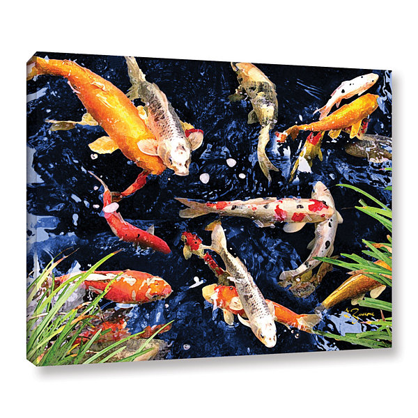 Brushstone Koi Gallery Wrapped Canvas Wall Art
