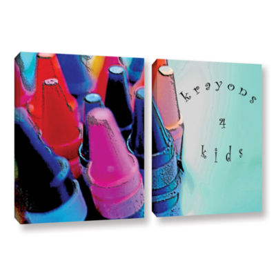 Brushstone Krayons For Kids 2-pc. Gallery WrappedCanvas Wall Art