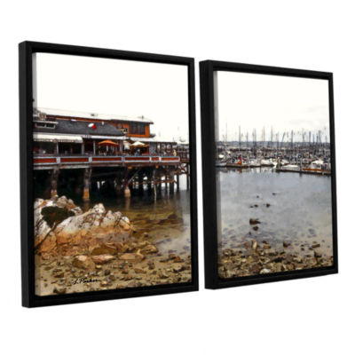 Brushstone Old Fisherman's Wharf - California 2-pc. Floater Framed Canvas Wall Art