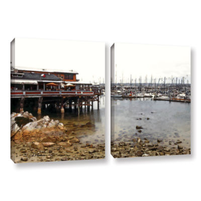 Brushstone Old Fisherman's Wharf - California 2-pc. Gallery Wrapped Canvas Wall Art