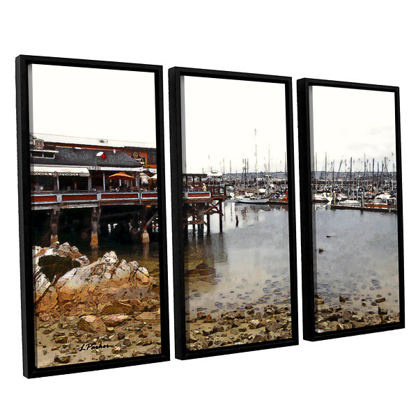 Brushstone Old Fisherman's Wharf - California 3-pc. Floater Framed Canvas Wall Art