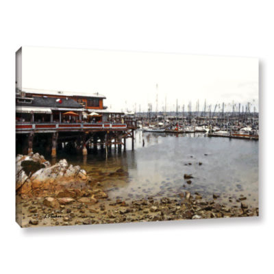Brushstone Old Fisherman's Wharf - California Gallery Wrapped Canvas Wall Art