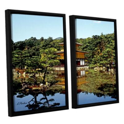 Brushstone Kyoto's Golden Pavilion 2-pc. Floater Framed Canvas Wall Art