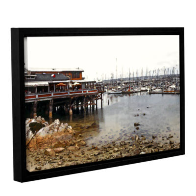 Brushstone Old Fisherman's Wharf - California Gallery Wrapped Floater-Framed Canvas Wall Art