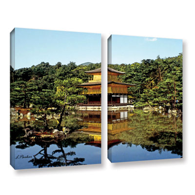 Brushstone Kyoto's Golden Pavilion 2-pc. Gallery Wrapped Canvas Wall Art