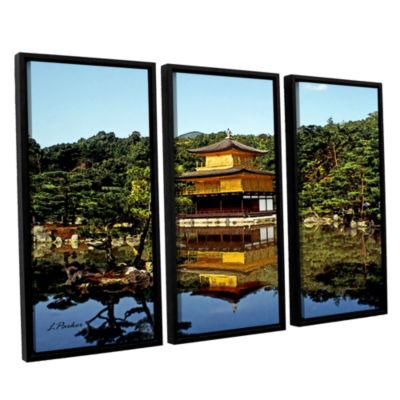 Brushstone Kyoto's Golden Pavilion 3-pc. Floater Framed Canvas Wall Art