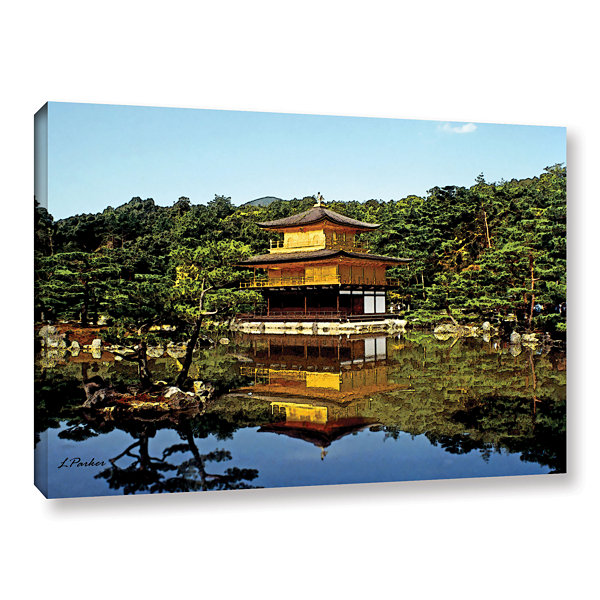 Brushstone Kyoto's Golden Pavilion Gallery Wrapped Canvas Wall Art