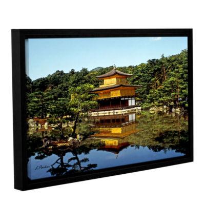 Brushstone Kyoto's Golden Pavilion Gallery WrappedFloater-Framed Canvas Wall Art
