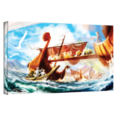 Brushstone Old Times 4 Gallery Wrapped Canvas Wall Art