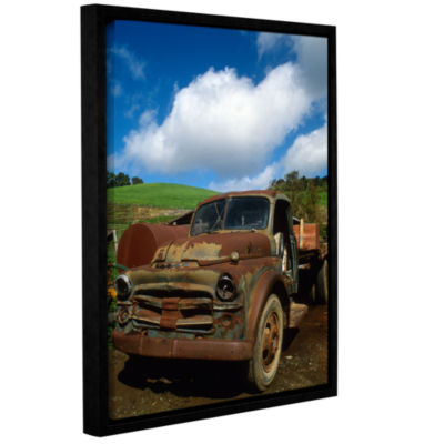 Brushstone Old Truck Gallery Wrapped Floater-Framed Canvas Wall Art
