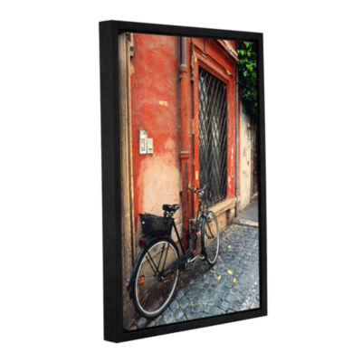 Brushstone La Bicicletta Gallery Wrapped Floater-Framed Canvas Wall Art