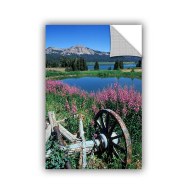Brushstone Old Wheel And Brooks Lake Removable Wall Decal