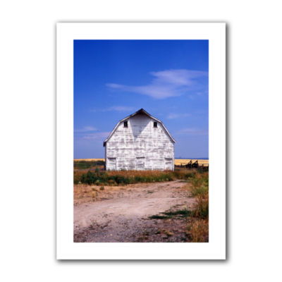 Brushstone Old White Barn Canvas Wall Art