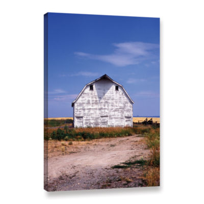 Brushstone Old White Barn Gallery Wrapped Canvas Wall Art
