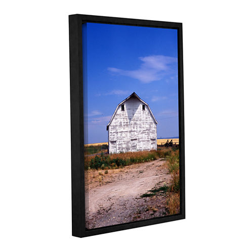 Brushstone Old White Barn Gallery Wrapped Floater-Framed Canvas Wall Art