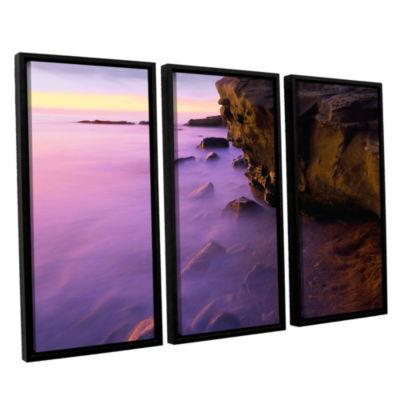 Brushstone La Jolla Twilight 3-pc. Floater FramedCanvas Wall Art