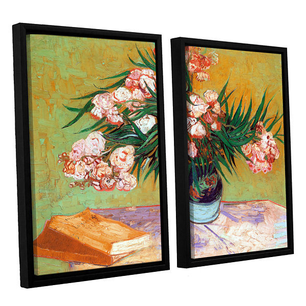 Brushstone Oleander 2-pc. Floater Framed Canvas Wall Art