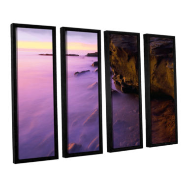 Brushstone La Jolla Twilight 4-pc. Floater Framed Canvas Wall Art