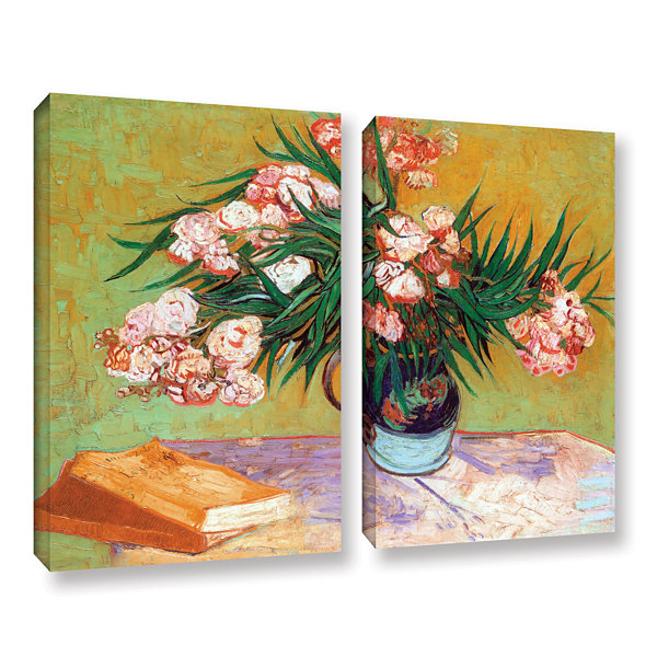 Brushstone Oleander 2-pc. Gallery Wrapped Canvas Wall Art