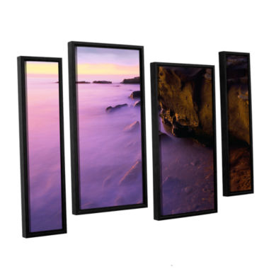 Brushstone La Jolla Twilight 4-pc. Floater Framed Staggered Canvas Wall Art