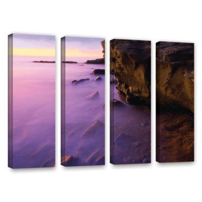 Brushstone La Jolla Twilight 4-pc. Gallery Wrapped Canvas Wall Art