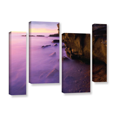 Brushstone La Jolla Twilight 4-pc. Gallery Wrapped Staggered Canvas Wall Art