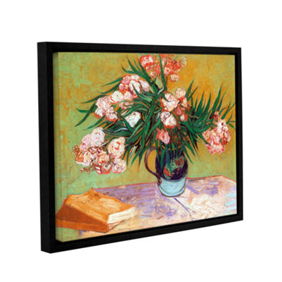 Brushstone Oleander Gallery Wrapped Floater-FramedCanvas Wall Art