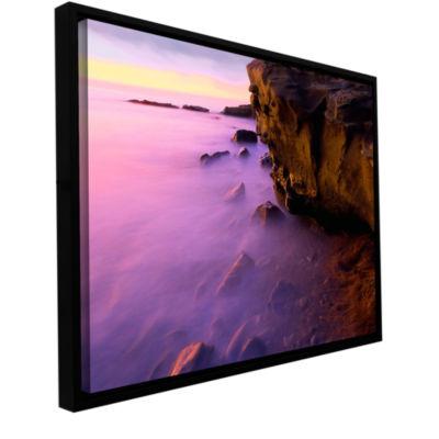 Brushstone La Jolla Twilight Gallery Wrapped Floater-Framed Canvas Wall Art