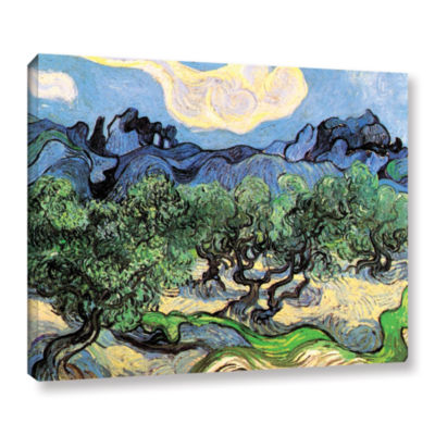 Brushstone Olive Trees In A Mountanious LandscapeGallery Wrapped Canvas Wall Art
