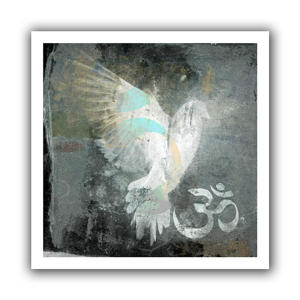 Brushstone Om Dove Canvas Wall Art