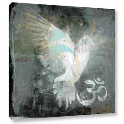 Brushstone Om Dove Gallery Wrapped Canvas Wall Art